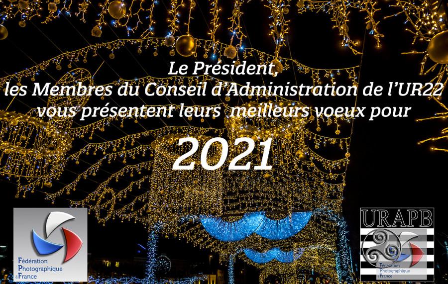 Le C.A. de l'UR22 vous souhaite une bonne Année 2021